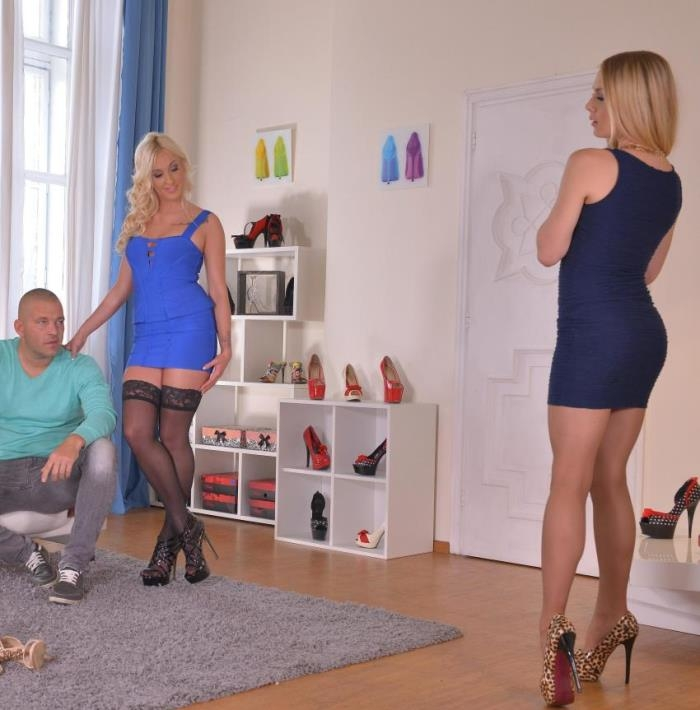 HotLegsAndFeet/DDFNetwork -  Daisy Lee, Alecia Fox - Shopping or Fucking: Two Blondes Provide Awesome Footjobs  [HD 720pp]