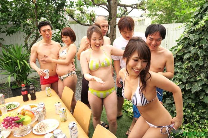 Caribbeancom - Rion Ichijo, Kanna Nozomi, Rin Aoki, Yume Mizuki [How to See Off a Summer] (SD 540p)