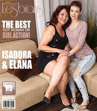 Mature.nl / Mature.eu [Elana V. (18), Isadora M. (51) - Horny old and young lesbian couple fooling around] SD, 540p