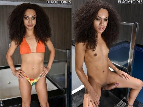 Black-TGirls.com [Christal Strokes By The Pool!] HD, 720p