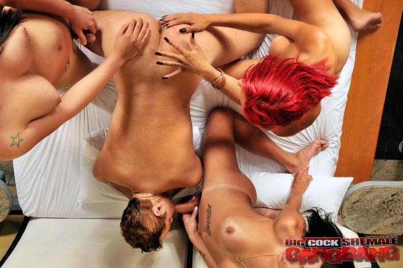 BigCockShemaleGangbang/TrannyAccess: Pietra Morales, Bianka Nascimento, Kauane Ferrari - I went to the cup of tea [HD 720p] (430 MB)