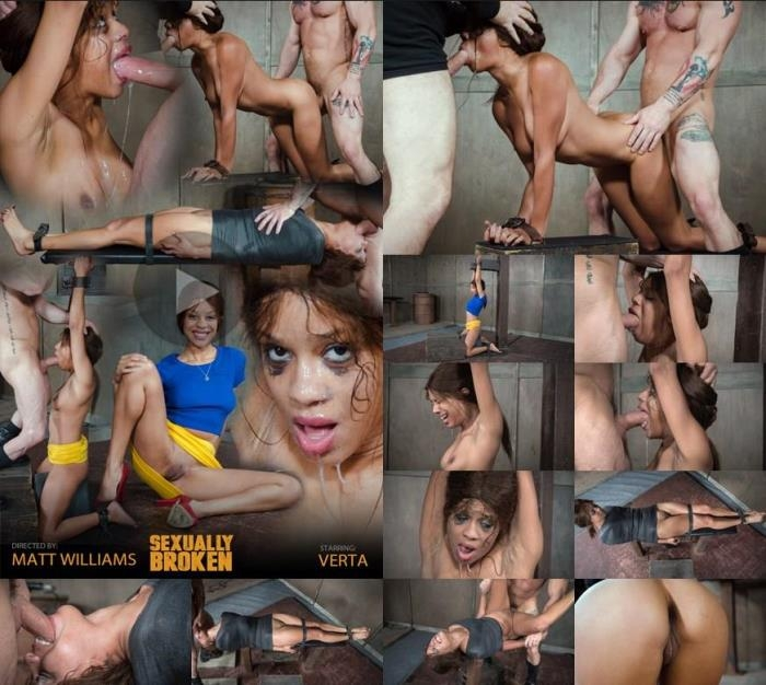 SexuallyBroken.com - Verta - Verta is bound down hard and fucked harder. Brutal face fucking and cervix pounding creates orgasms [HD, 720p]