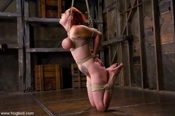 Mz Berlin - Berlin and her massive 32F breasts visit for her first ever Hogtied shoot (Hogtied, Kink) HD 720p
