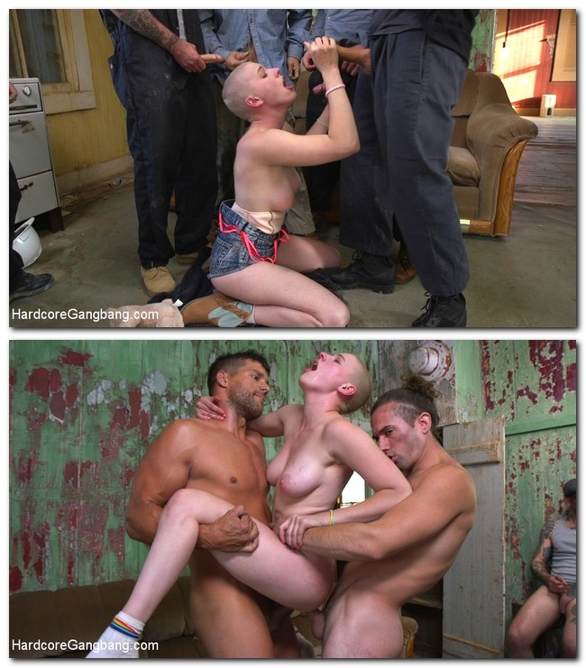 HardcoreGangbang/Kink - Riley Nixon - ANGEL FACE: Gorgeous Riley Nixon Double Penetrated In Desert Gangbang - SD/540p