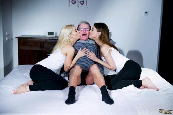 Oldje-3some: Nesty, Jhon, Elle Rose - A Sex Chat (HD/2017)