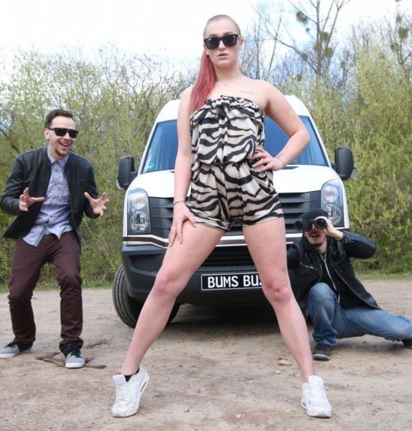 BumsBus: Scarlett Scott  - Horny German redhead teen Scarlett Scott rides hard cock in the van (2017) HD  720p