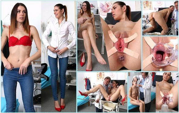 ExclusiveClub: Marisa - Sporty brunette Marisa visits dirty doctor office (HD/2017)