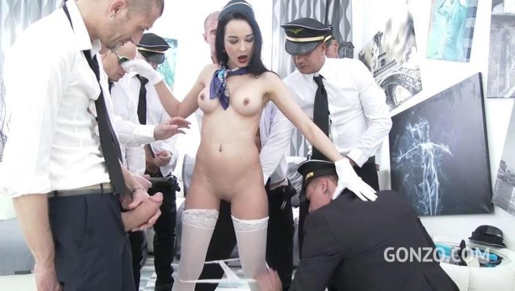 Francys Belle takes a flight with Gabgbang airlines SZ1718 [LegalPorno / SD]