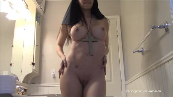 Naughty nun shit smear and swallow - Solo Scat [FullHD 1080p]