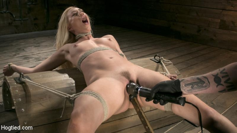 Hogtied - Lyra Law - Sexy Blonde Mistres Submits to Rope Bondage and Suffering [HD 720p]