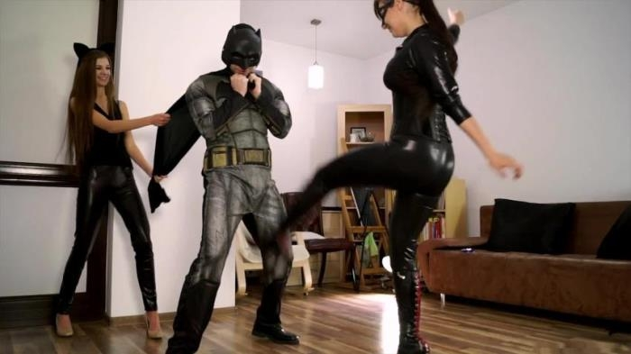 PolishMistressclips - Anna as Catwoman, Weronika as Black Mamba and Footboy as Batman [Batman Parody Episode 01] (FullHD 1080)
