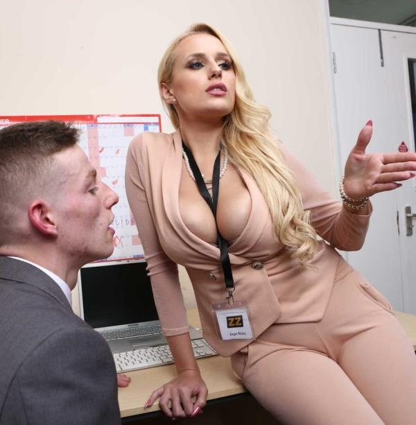 BigTitsAtWork: Angel Wicky  - Summer Internship (2017) HD  720p