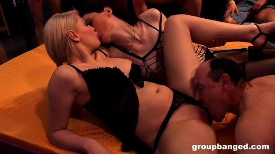 GroupBanged, RealGangBangs: Elina, Melly - Backstage Group Bangers (FullHD/1080p/2.56 GB) 25.06.2017