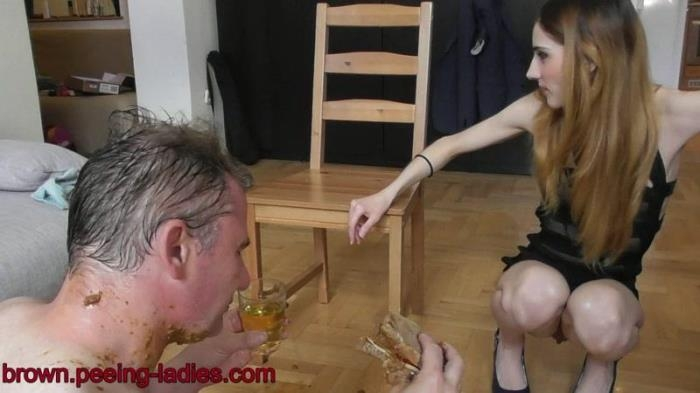 Tina Blade shit sandwitch - Femdom Scat (Scat Porn) FullHD 1080p
