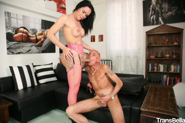Kelly Cesario - Horny Latina tranny Kelly Cesario gets cum on ass in juicy hard fuck (TransBella) HD 720p