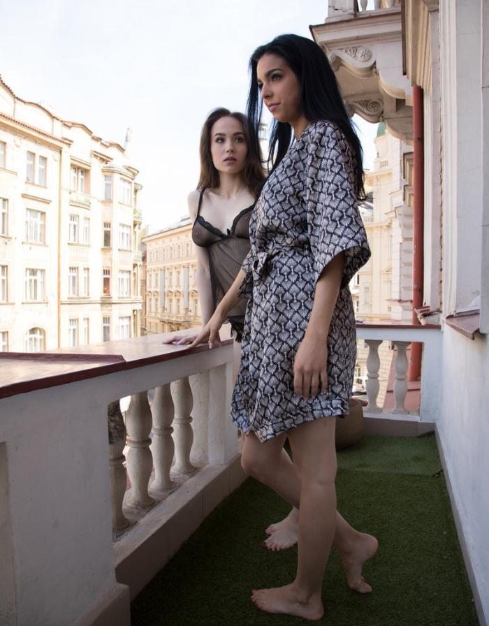 Lesbea - Angel Rush, Foxxi Black - Glamorous Euro Lesbians in Lingerie [SD 480p]