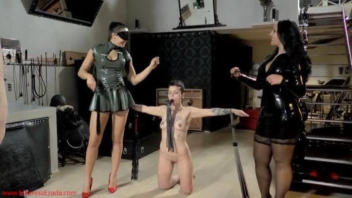 MistressEzada -  Ezada Sinn, Mistress Gaia - Flogged On The Spanish Donkey  [SD 406p]