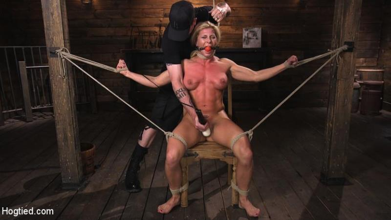 HogTied.com / Kink.com: Ariel X is Tormented in Brutal Bondage and Double Penetrated [HD] (1.45 GB)