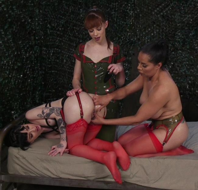 Kink/EveryThingButt - Izamar Gutierrez, Alexa Nova, Charlotte Sartre - Army Brats Lose a missile, end up putting missile in commanders ass [HD 720p]