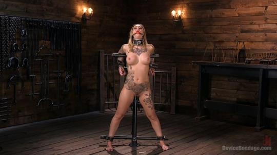 DeviceBondage, Kink: Kleio Valentien - Blonde Submissive Bombshell Kleio Valentien Gets Punished and Pleasured in Strict Bondage!! (HD/720p/1.35 GB) 03.07.2017