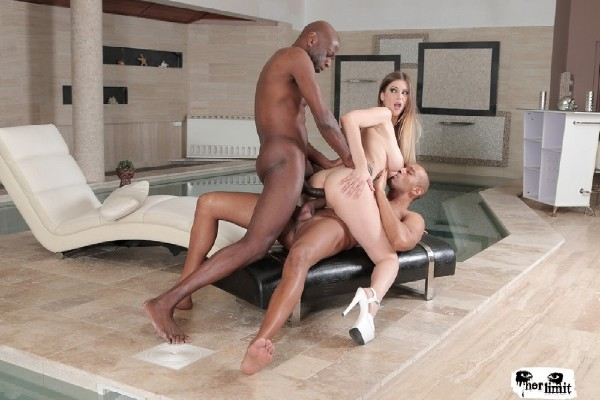HerLimit: Stella Cox - Hot British babe Stella Cox gets DP in hard rough interracial threesome  [SD 480p]  (DP)