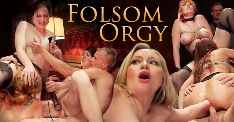 Syren de Mer, Eliza Jane , Aiden Starr, Lauren Phillips, Quinn: The Fantastic Fucking Folsom Orgy Pt. 2 (SD / 480p / 2016) [Kink]