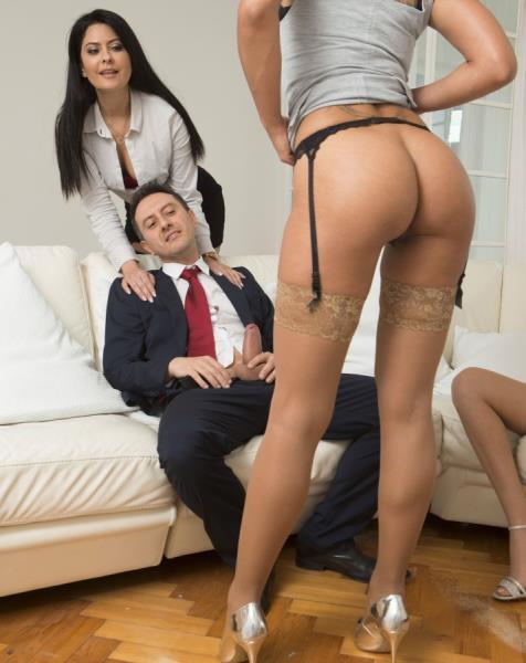 DorcelClub.com - Rose Valerie, Amber Jayne, Mariska / His wife offers him 2 slutty girls [FullHD, 1080p]