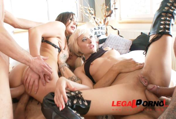 LegalPorno - Ally Breelsen, Lola Shine [Ally Breelsen And Lola Shine 4 On 2 Mini Orgy With DAP And DVP SZ1755] (SD 480p)