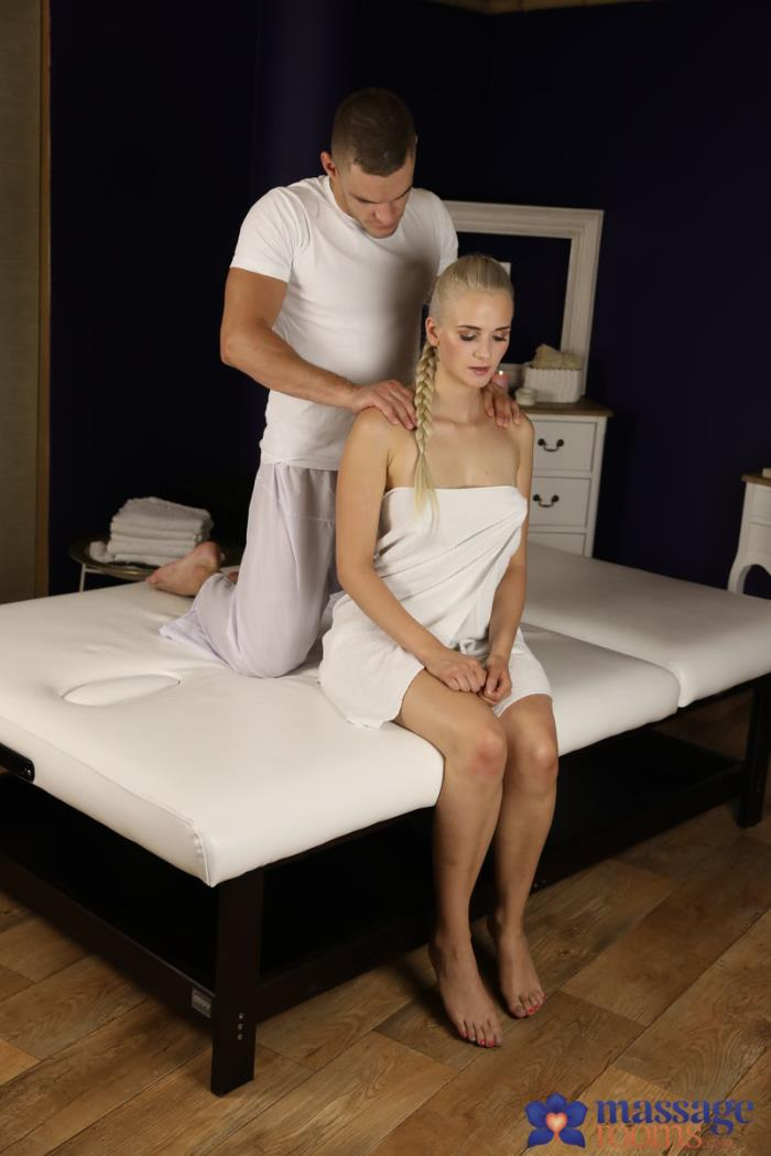 MassageRooms.com / SexyHub.com - Katy Sky - Innocent Blonde Wanks Off Big Cock [SD, 480p]