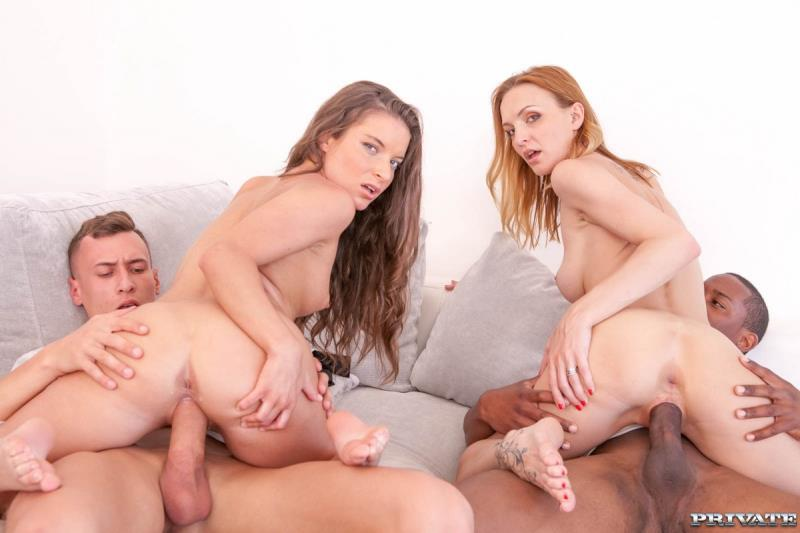 Belle Claire, Anita Bellini (Belle Claire and Anita Bellini, interracial orgy with DP / 22.07.17) [Private, AnalIntroductions / SD]