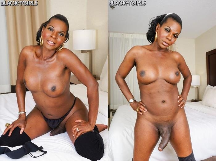 Cinnamon Capri - Amber Strokes And Cums! (Black-TGirls) HD 720p