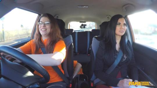 FakeDrivingSchool: Jasmine Jae & Lucia Love - Double Cumshot in Exciting 3some (FullHD/1080p/1.52 GB) 29.07.2017