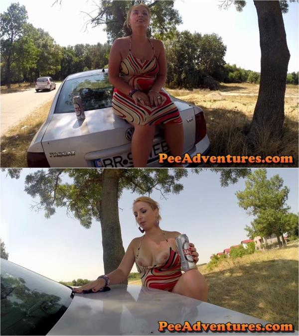Simone - Pissing on my car and cleaning it with her panties (PeeAdventures) [FullHD 1080p]