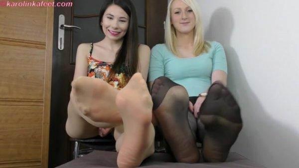 Karolinkafeet - Karolinka Feet - Inhale our Nyloned feet! [FullHD 1080p]