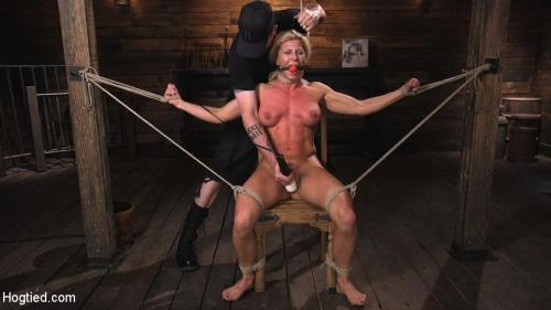 Ariel X is Tormented in Brutal Bondage and Double Penetrated [HD, 720p] [HogTied.com / Kink.com]