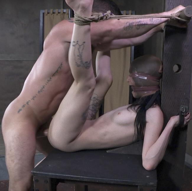 Lydia Black - Is locked into the automatic blowjob machine and sucks two giant dicks! (BDSM) - SexuallyBroken   [HD 720p]