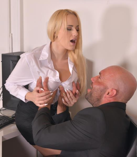 Angel Wicky - Cum-Covered Cans: Boss Crams Cock into Buxom Babe's Mouth (Big tit) - DDFBusty/DDFNetwork   [SD 540p]