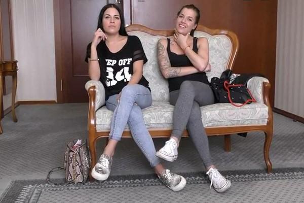 Eveline Dellai, Silvia Dellai - Dellai Twins Casting (WoodmanCastingX/SD/540p/1.09 GB) from Rapidgator