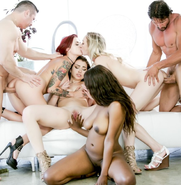 Tana Lea, Jennifer Jacobs, Zoe Parker, Daya Knight, John Strong, Tommy Gunn - Fuck - Orgy Edition, Scene 2  (2017/DevilsFilm/FullHD/1080p)