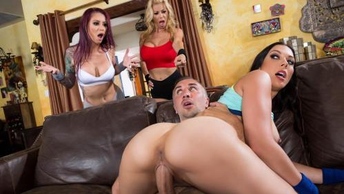 PornstarsLikeItBig.com / Brazzers. [Alexis Fawx, Monique Alexander, Rachel Starr - A Side Piece Of Pornstars] SD, 480p
