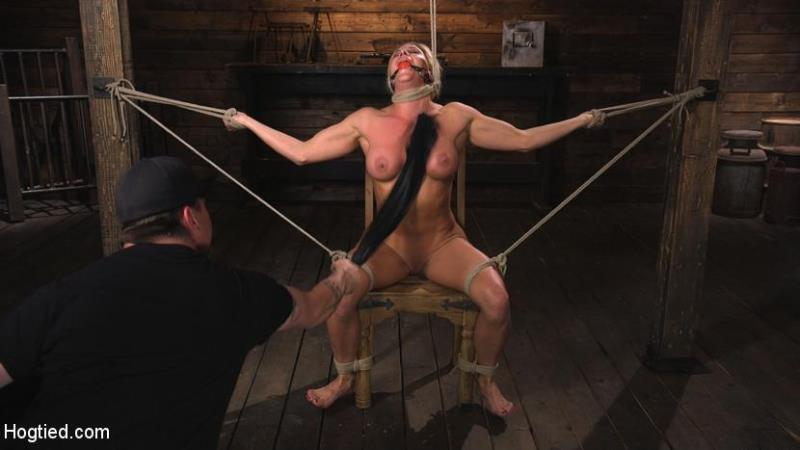 Hogtied.com / Kink.com: Ariel X is Tormented in Brutal Bondage and Double Penetrated [SD] (442 MB)
