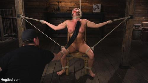 Hogtied.com / Kink.com [Ariel X is Tormented in Brutal Bondage and Double Penetrated] SD, 540p