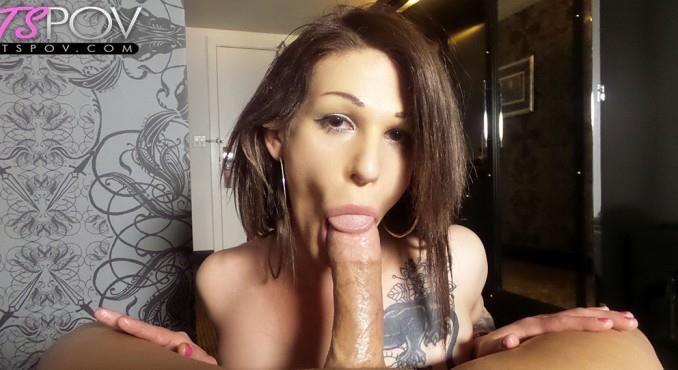 Dona Abelar deep throats a big dick in her Vegas hotel (TsPov) FullHD 1080p