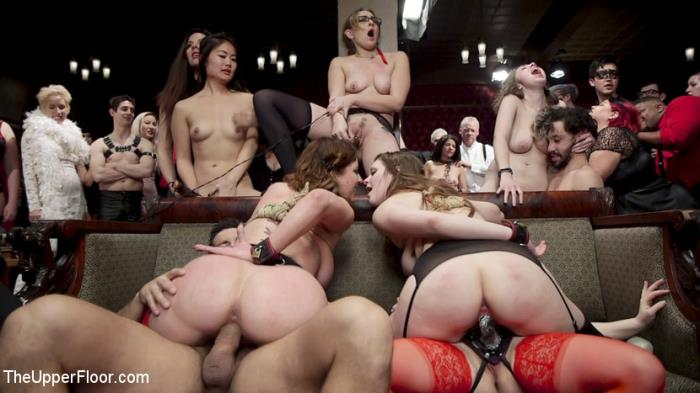 TheUpperFloor/Kink - Aiden Starr, Cherry Torn, Nora Riley - The Final Armory BDSM Orgy with a huge group orgasm!  (720p / HD)