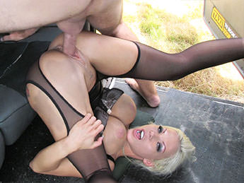 Barbie Sins - Deepthroat Gagging MILF Gets Facial - FakeTaxi.com / FakeHub.com (SD, 480p)