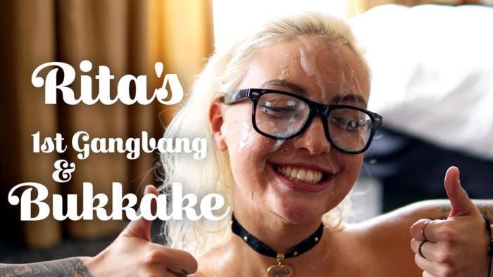 Rita - Rita's 1st Gangbang & Bukkake (TexxxasBukkake, TexasBukkake, ManyVids) HD 720p