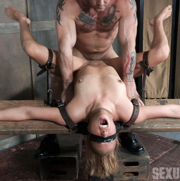 SexuallyBroken - Julia Waters - First ever porn shoot. Brutal throat fuckings, Anal fucking, with amazing bondage (BDSM)  [HD / 720p / 1.54 Gb]