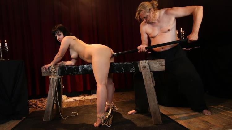 Pina Deluxe - Wild bondage and torture session with chubby German slave Pina Deluxe PART 2 [PornDoePremium, BadTimeStories / HD]