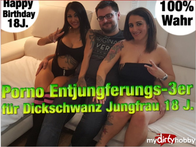 QueenParis - (MyDirtyHobby/MDH) Porno Entjungferungs-3er fur Dickschwanz Jungfrau 18 J  Porn Entjungferungs-3 for thick cock Virgin 18s [FullHD 1080p] - German
