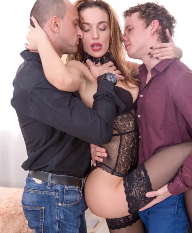Hazel Dew - Hazel Dew in a threesome with anal, DP and double creampie (Group) - Private   [HD 720p]